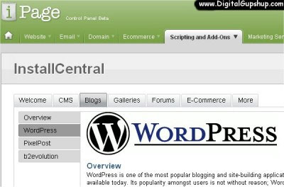 ipage-wordpress-